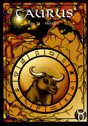 Astrology Taurus Greeting Card