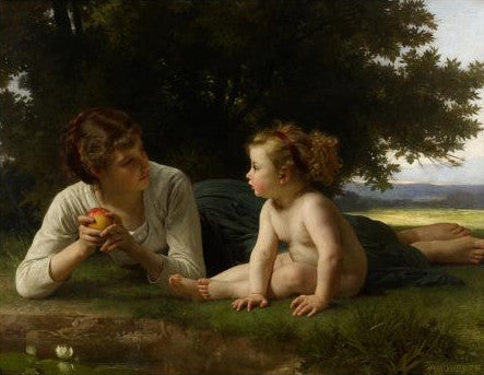 Adolphe William Bouguereau Temptation Mother Child Greeting Card