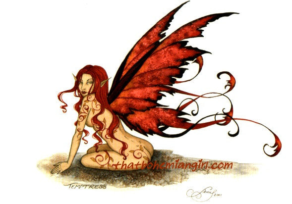 Amy Brown Temptress Fairy Postcard