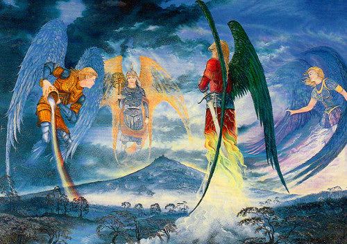 Roger Garland The Four Archangels Greeting Card