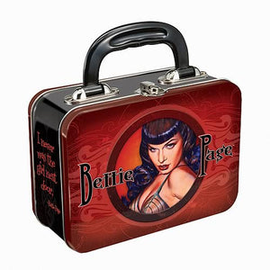 Bettie Page Tin Lunch Box --  The Girl Next Door