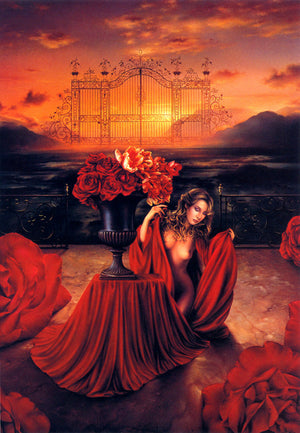 Jean Paul Avisse The Rose Gate Greeting Card