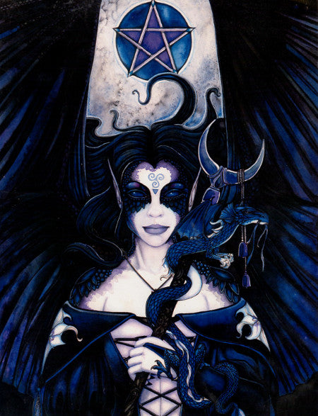 Michele-lee Phelan The Lady Wiccan Pentagram Print