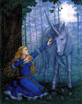 Linda Garland Princess Theresa and the Unicorn Greeting Card