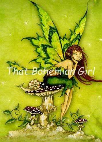 Amy Brown Thinking of You Fairy Note Card
