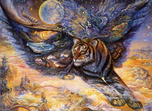 Josephine Wall Tigermoth Friendship Greeting Card