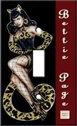 Bettie Page Tigress Sexy Switch Plate Cover