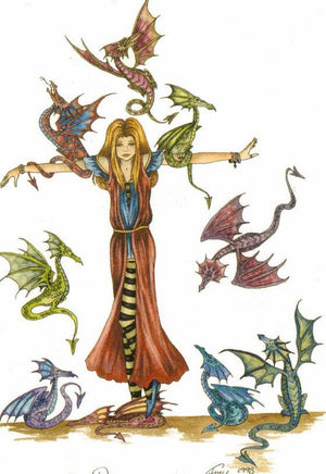 Amy Brown Too Many Dragons Greeting Card