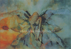 Karen Haughey Transition Angel Greeting Card