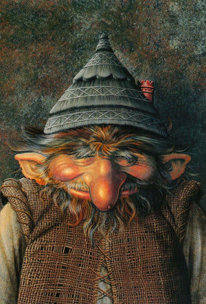 Maxine Gadd Greeting Card -- Old Man Troll