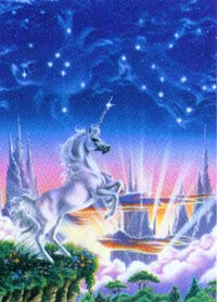 Susan Dawe Unicorns Edge Greeting Card