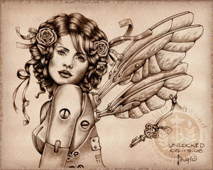 Brigid Ashwood Steampunk Fairy Print -- Unlocked Crisis