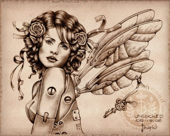 Brigid Ashwood Steampunk Fairy Print -- Unlocked Crisis -- Last One