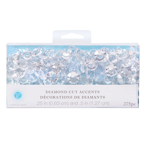 275 Victoria Lynn Diamond Cut Clear Gem Wedding Accents Table Decor