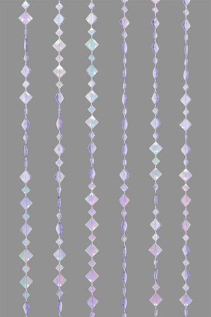 Purple Violet Beaded Curtain -- Diamond Shapes