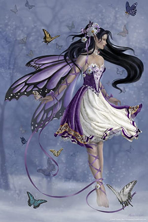 Nene Thomas Violet Melody Fairy Ceramic Tile Art