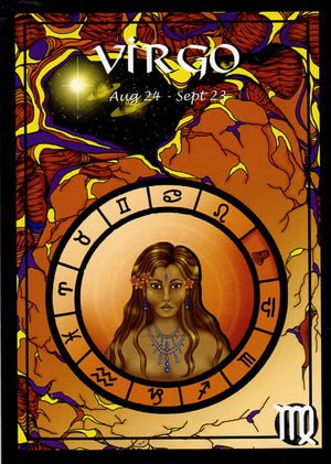 Astrological Virgo Greeting Card