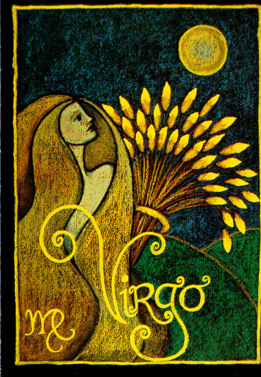 Astrology Virgo Note Card