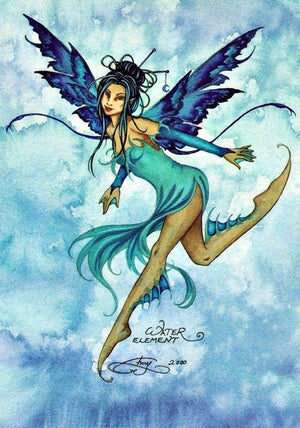 Amy Brown Water Element Fairy Ceramic Tile Art