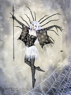 Amy Brown Web Dancer Fairy Spider Print -- Limited Edition