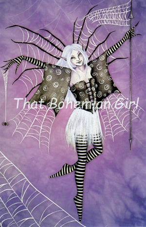 Amy Brown Web Dancer Fairy Note Card