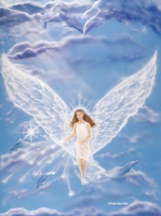 Ann Van Eps Where Angels Play Greeting Card