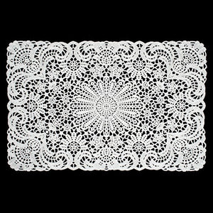 White Vinyl Lace Placemat