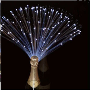 White Fiber Optic Bottlebeams Bottle Lights