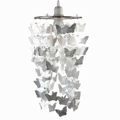 White Butterfly Capiz Shell Chandelier