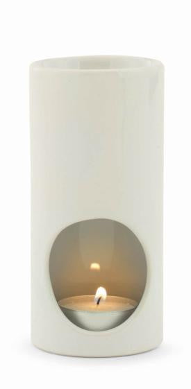 White Tea Light Ceramic Oil Warmer