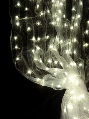 LED Organza Curtain -- Warm White