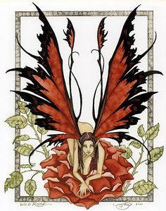 Amy Brown Wild Rose Fairy Postcard