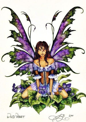 Amy Brown Wild Violet Fairy Postcard