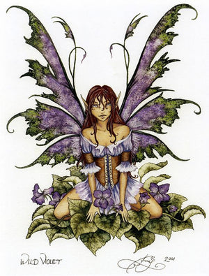 Amy Brown Wild Violet Fairy Print