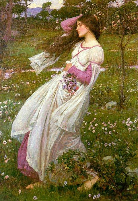 Waterhouse Windflowers Cross Stitch Pattern Chart