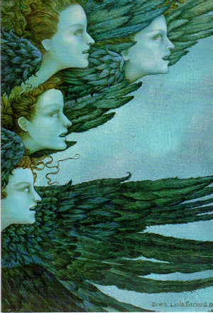 Linda Garland Winged Sirens Greeting Card