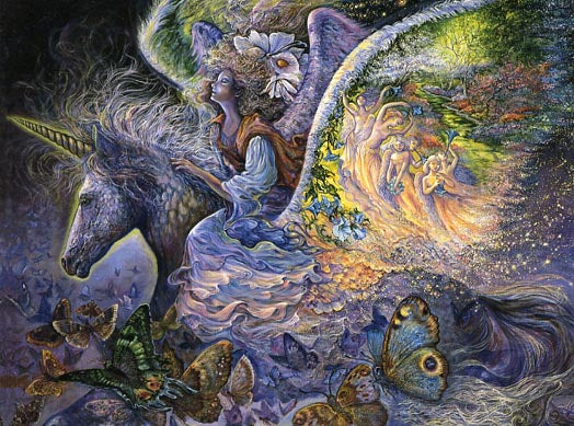 Josephine Wall Wings Unicorn Fairy Birthday Greeting Card