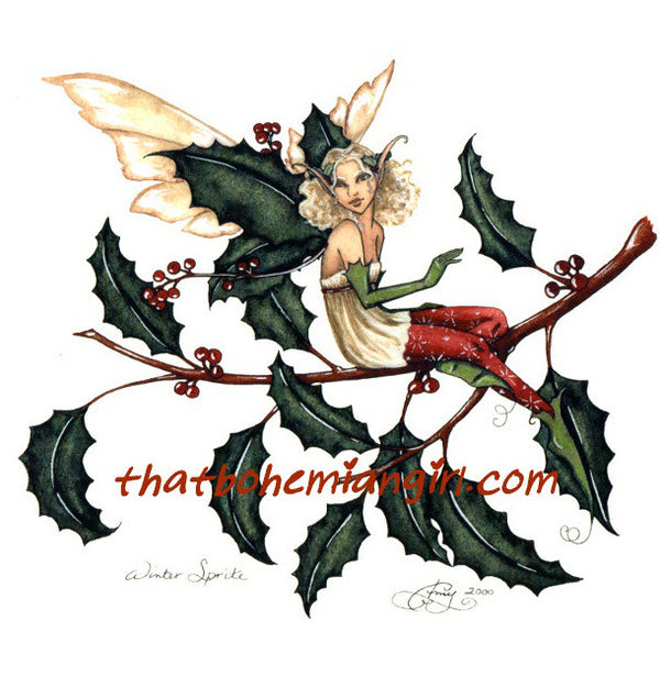 Amy Brown Winter Sprite Fairy Print