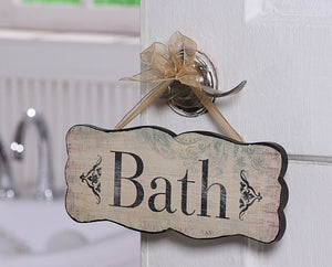 Bath Sign -- Vintage Reproduction