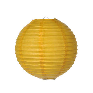 Pack of 10 Yellow 8 Inch Round Paper Lantern