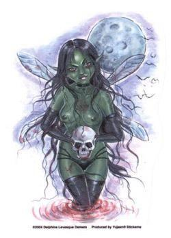 Delphine Levesque Demers Zombie Fairy Sticker Decal