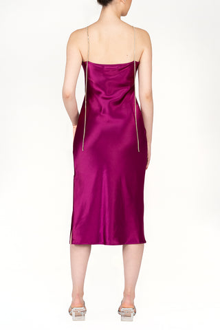SCANDINAVIA-Spaghetti Strap Backless Slip Dress