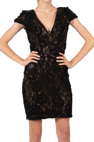 ZOE BLACK SEQUIN DRESS