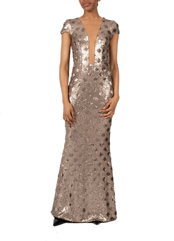 MICHELLE SEQUIN GOWN