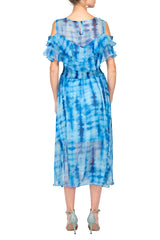 TWO PEARS-Blue Contrast Dress