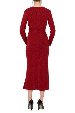 TWO PEARS-Long Sleeve Bodycon Belted Dress