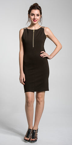 Zip Front Dress w/Foiled Lamb