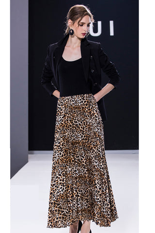 AUI-BLAZER AND LEOPARD DRESS SET
