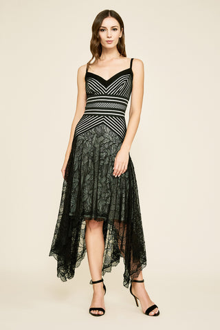PETRI HANDKERCHIED JACQUARD DRESS