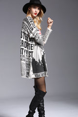 Long Sleeve Loose Sweater Dress